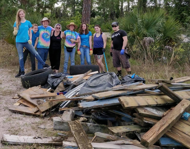 Aripeka Sandhills Preserve cleanup